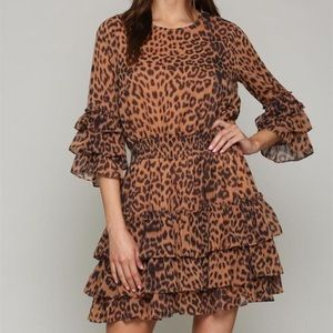 FATE Leopard Layered Dress
